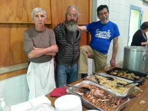Leaders from Ascension Lutheran Church at one of the monthly meals they host
