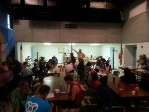 The crowd at a Thursday night meal at Ascension Lutheran Church