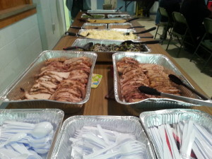 "Some of the food at July's ""Big Meal"" at Ascension Lutheran Church"
