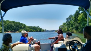 Off the back of a boat at our 2nd Annual Lake Day with Clarksville Baptist Church