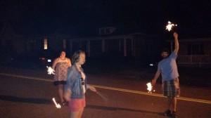 Sparklers to celebrate Sami