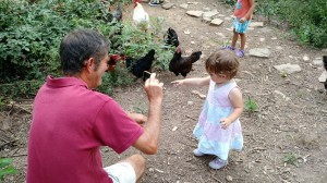 A birthday party with the chickens (and other fine folks) at White Flint Farm