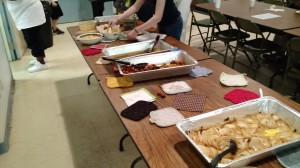 "Some of ""the spread"" from our Big Meal in September"