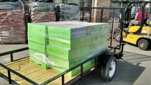 A new trailer and a pallet of donated seeds for our work on the Urban Farm.