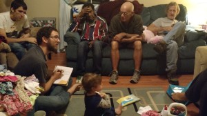 A glimpse into one of Grace and Main's monthly leadership meetings for our covenanted leaders (and a toddler)