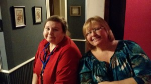 A couple of fine ladies at one of our house meals