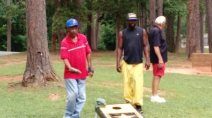 """Cornhole"" at our 3rd Annual Lake Day with Clarksville Baptist Church"